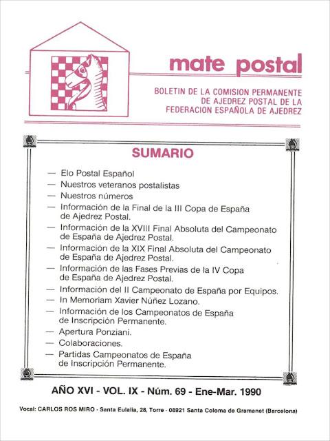 Mate Postal Nº69-Enero-Marzo-1990
