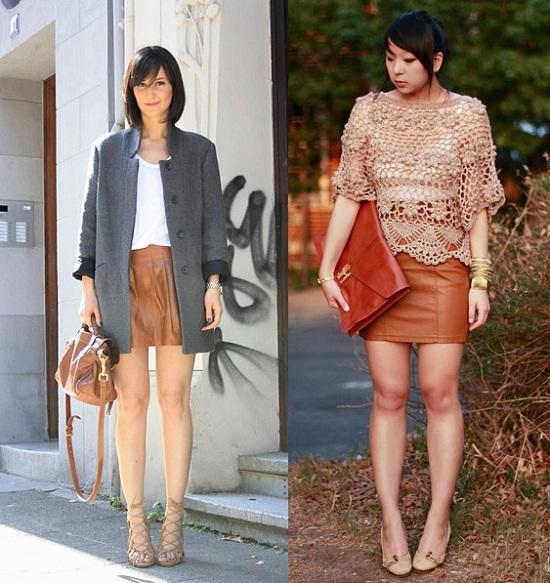d0136a398ce0a Desde Les Cocottes de la Mode os proponemos una combinación que creemos que  puede quedar muy bien. Falda de cuero negra con camisa vaquera.