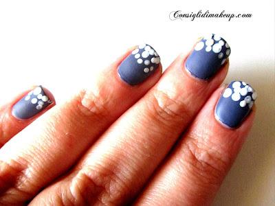 nail art facile veloce pois