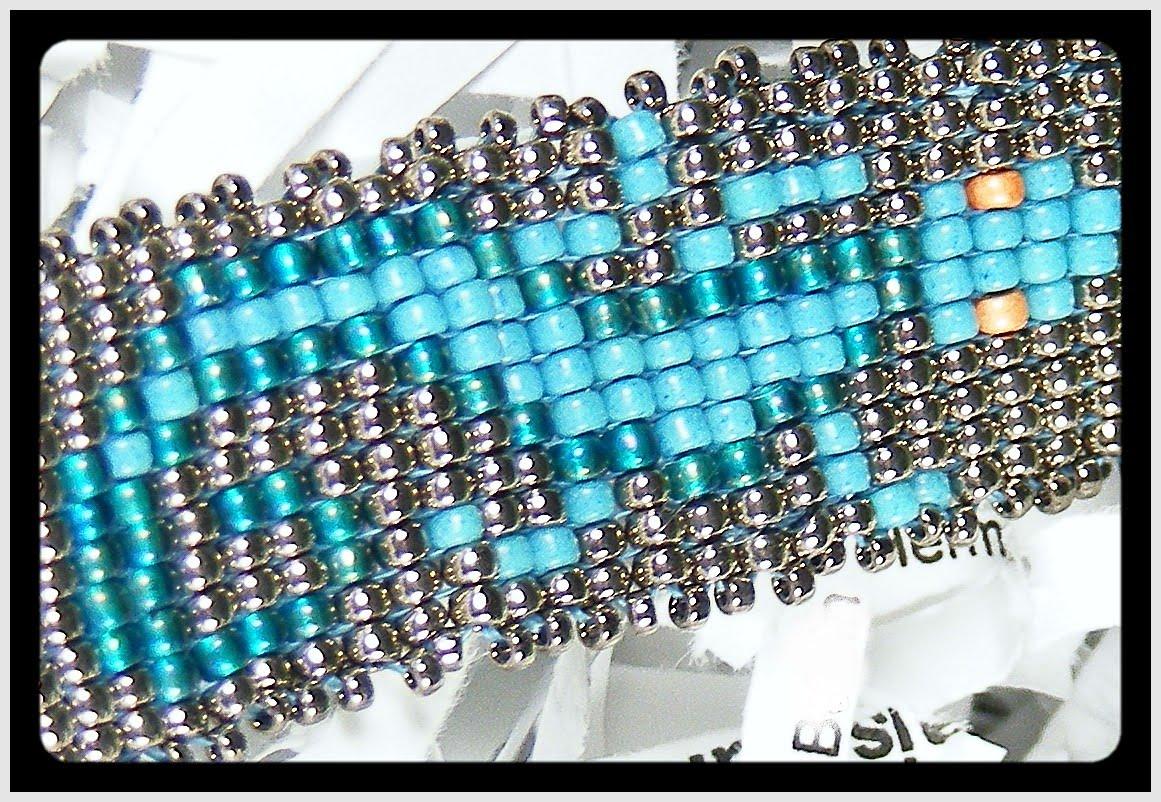 alles meins april 2011 einzigartig perlen ohrstecker mit muster - Perlen Weben Muster