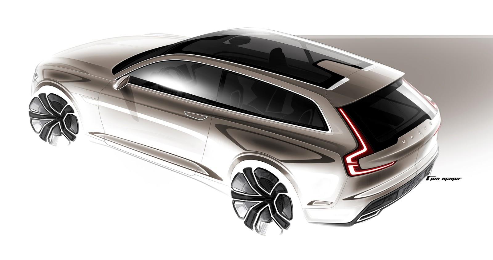 Volvo Concept Estate sketch plan view by T. Jon Mayer