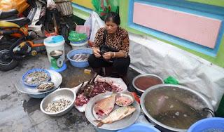 Pescadería de Hanoi.