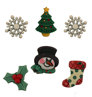santa friends 3D buttons