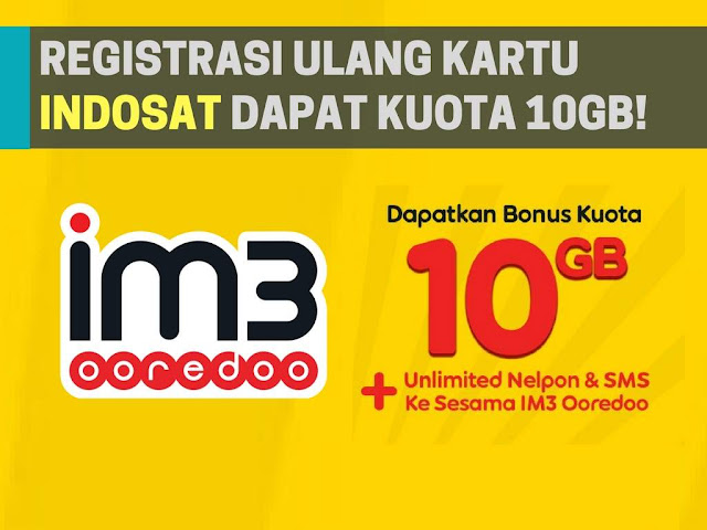 Registrasi Ulang Kartu Indosat Ooredoo Dapat Bonus Kuota 10GB!