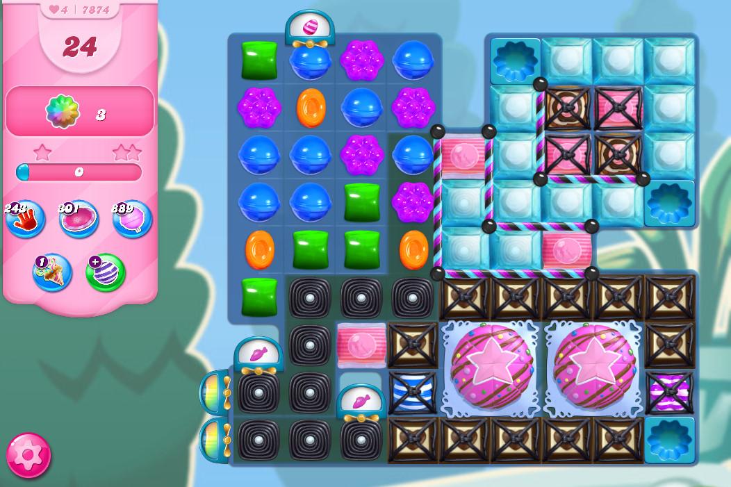 Candy Crush Saga level 7874