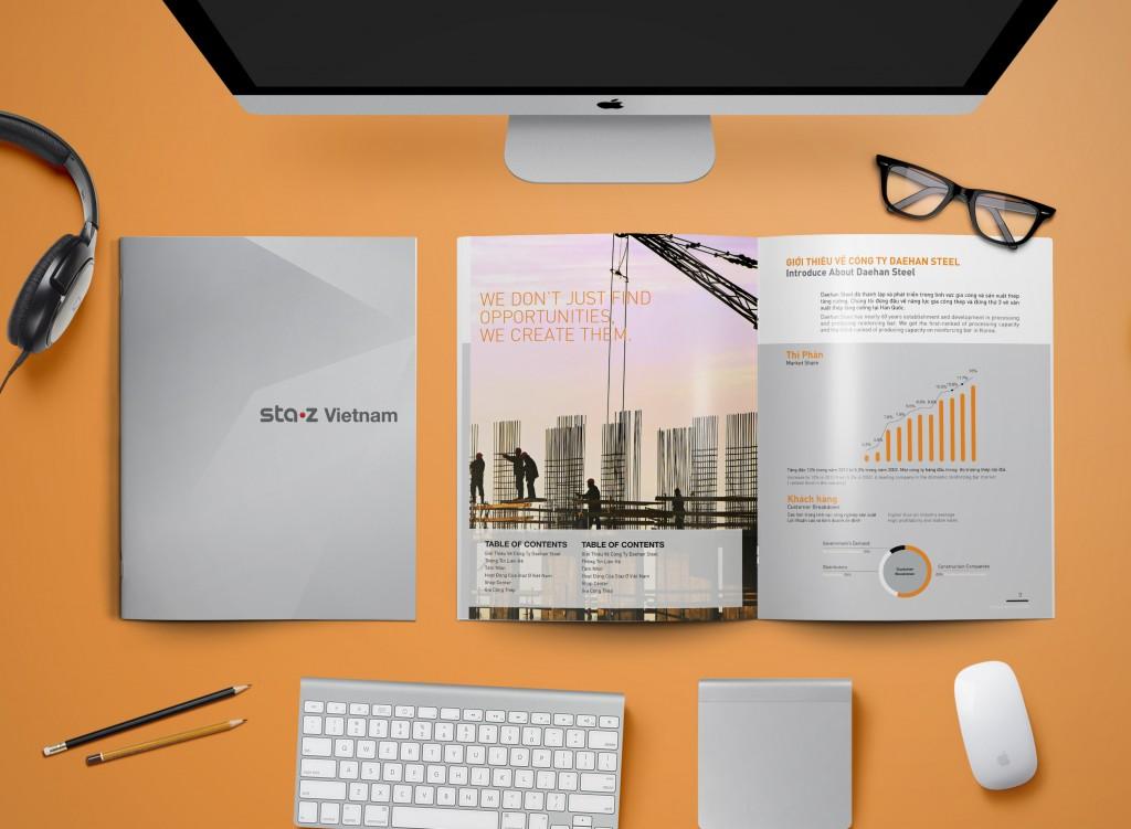 In profile công ty đẹp, hồ sơ năng lực, sách giới thiệu công ty Staz Vietnam