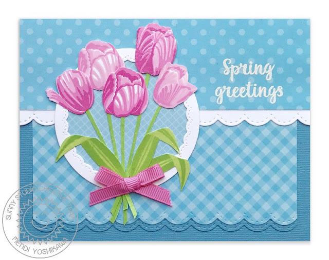 Sunny Studio Stamps: Timeless Tulips Card by Mendi Yoshikawa