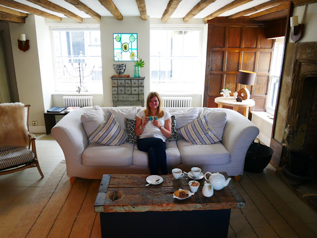 Enjoying a welcome cup of tea at Swan House B&B, Hastings