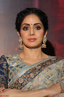 Sri Devi in designer saree stunning beauty at the launch of MOM movie Trailer~  Exclusive 091.JPG