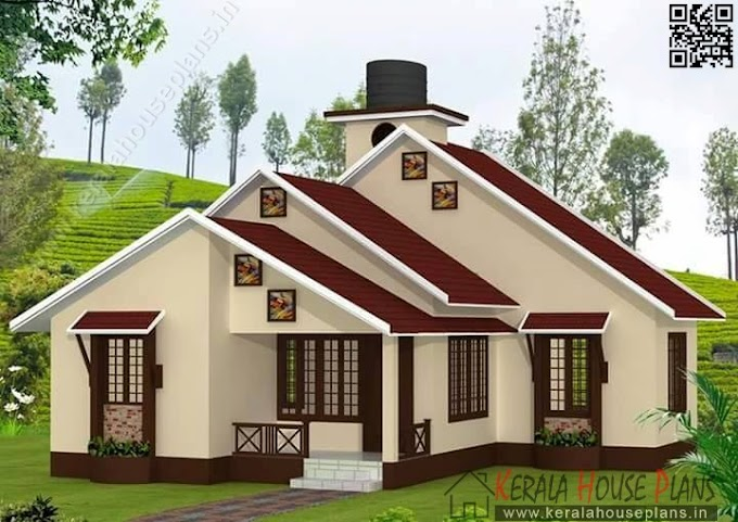 Kerala low budget house plan elevation and floor details