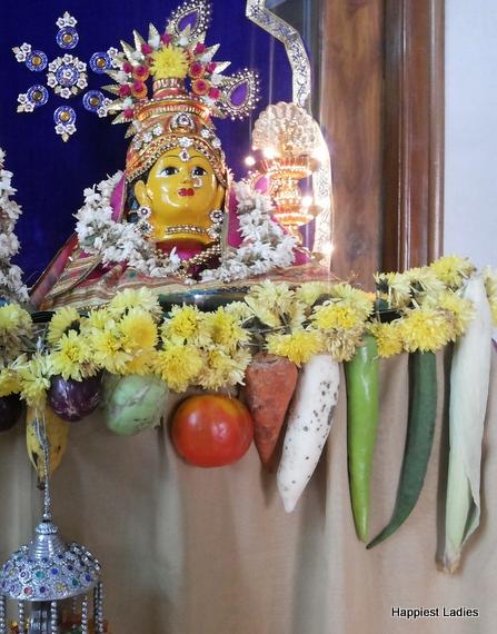 Vara MahaLakshmi goddess face mask