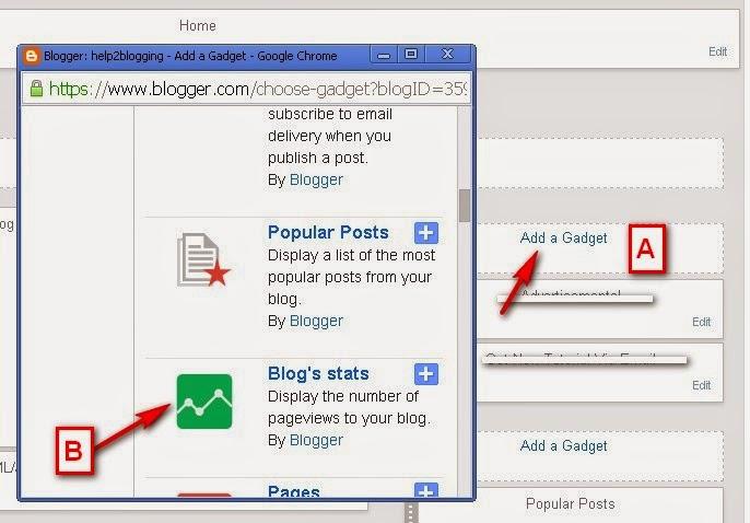 Select Hit Counter Widget to Blogger Widget