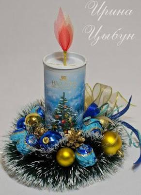 Aprende c mo hacer centros de mesa navide os reciclando - Ideas para hacer adornos navidenos ...