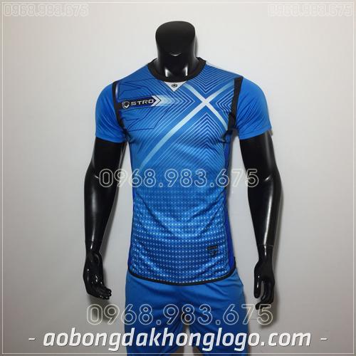 Áo bóng đá không logo Stro HQN Naldo màu xanh
