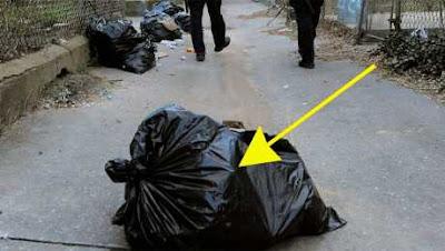 شاهدوا حركة في كيس القمامة وعندما فتحوه أصيبوا بالدهشة,لن تصدق ماوجدوه داخل الكيس