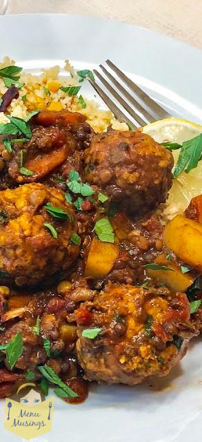 Moroccan Lentils with Turkey Meatballs_menumusings