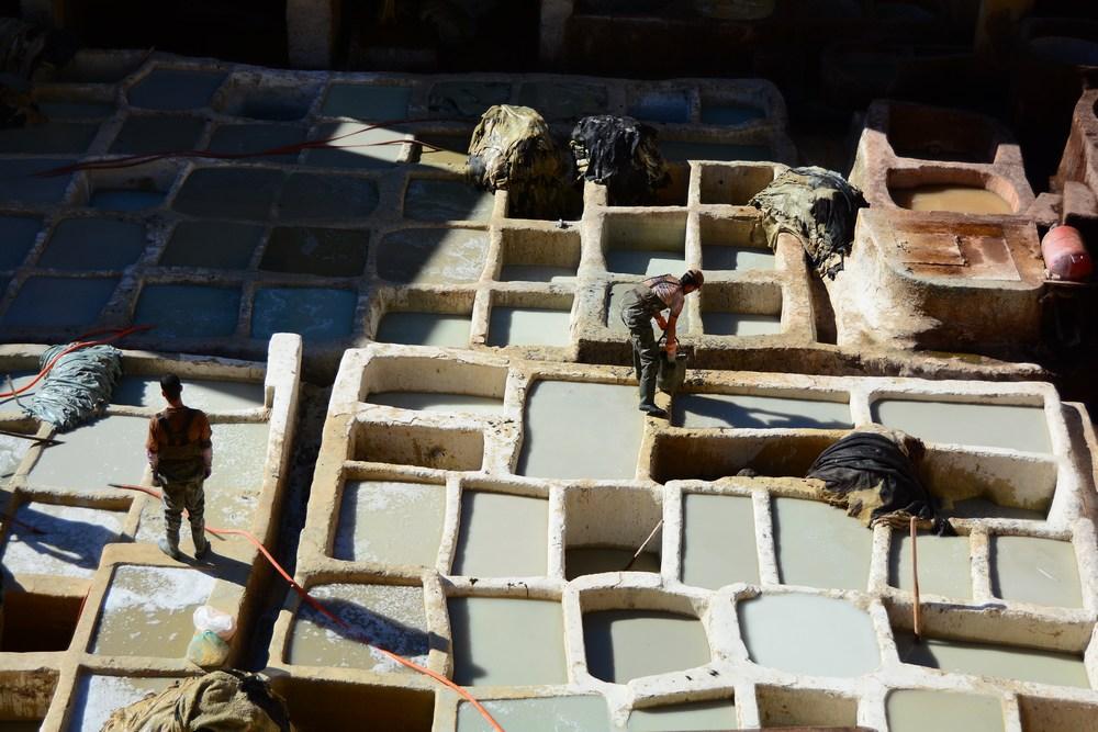 bassins de chaux de la tannerie Chouara