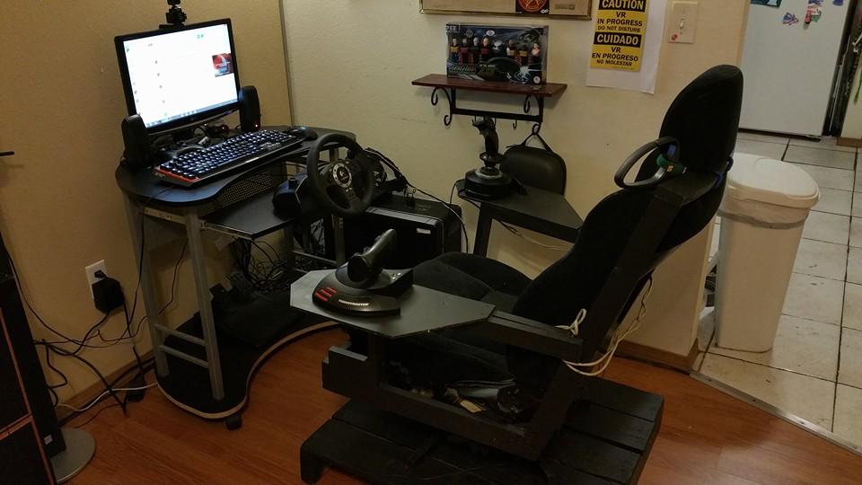 Flight Simulator Chair 360 Wheelchair Nz Building A Diy Driving Sim Pit On Budget Vrspies