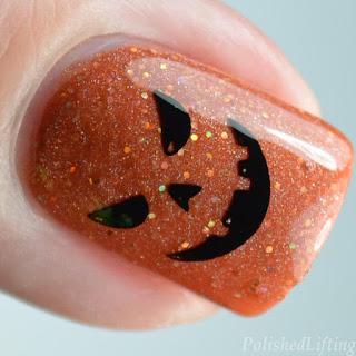 jackolantern nail art