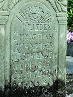 Lápide de Nascido em 1813 - Cemitério Alemão, Lindolfo Collor