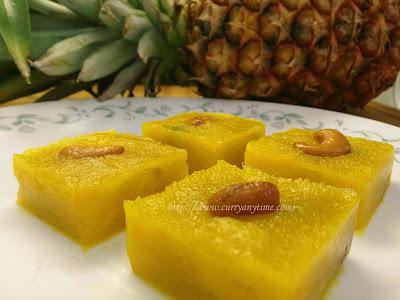 Pineapple Kesari - Pineapple Semolina Dessert