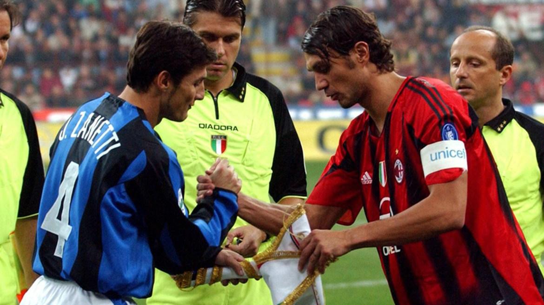Javier Zanetti and Paolo Maldini