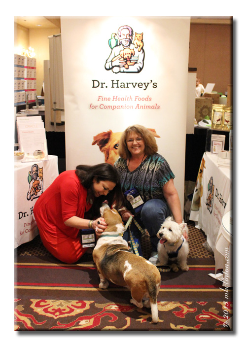 Dr. Harvey's booth at BlogPaws