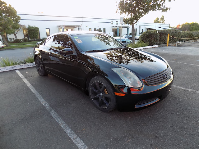 Old-looking Infiniti G35 after overall paint job at Almost Everything Auto Body.