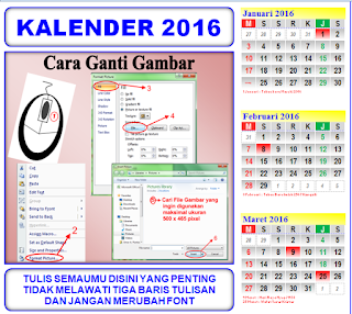 Aplikasi Kalender Berbasis Excel Ukuran F4 Bisa Rubah Gambar Sendiri