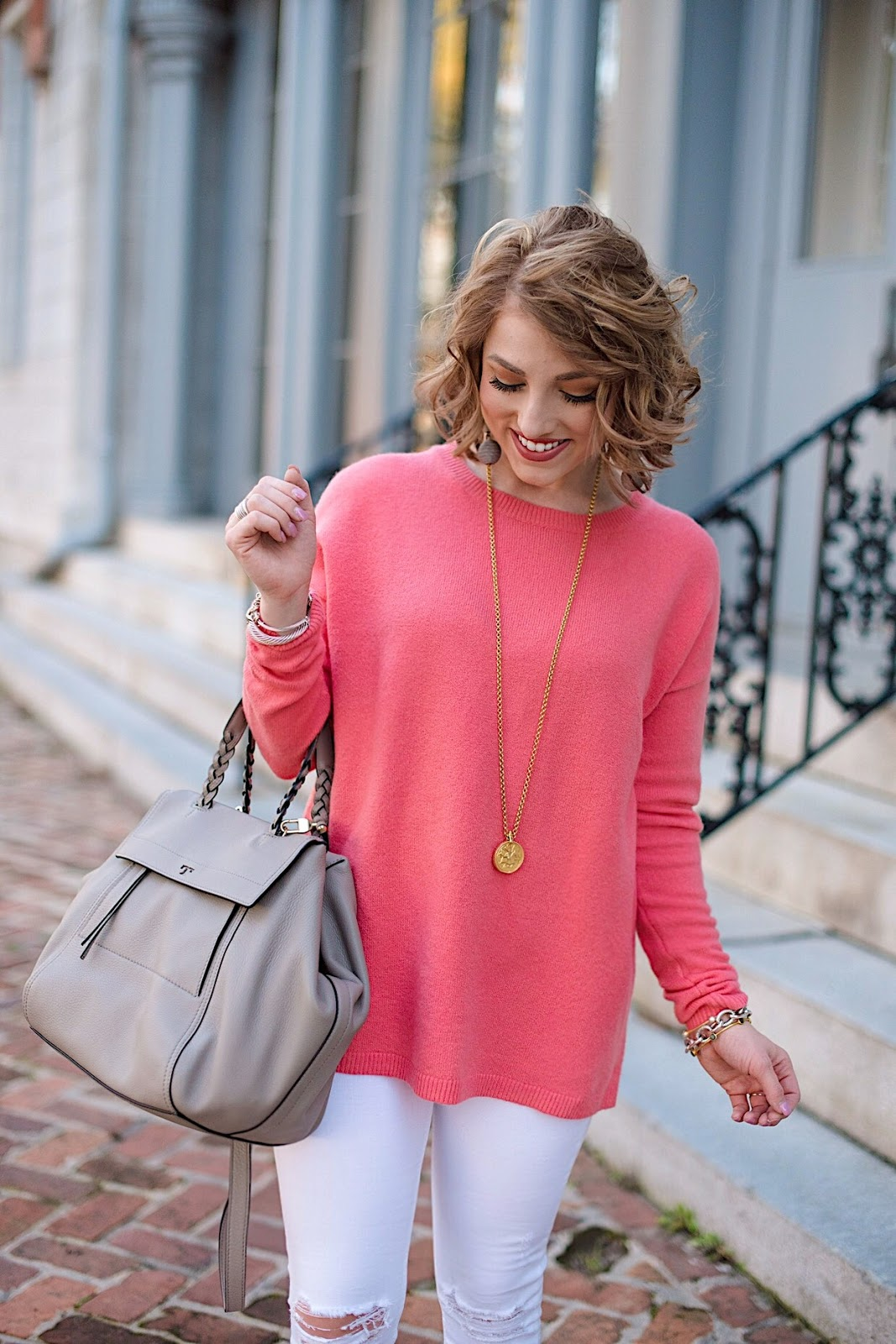 Transition to Spring Outfit - Click through for more on Something Delightful Blog
