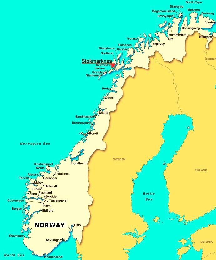 Ultima Thule Stokmarknes Vesterålen Norway A º N Wealthy Thule - Vesteralen norway map