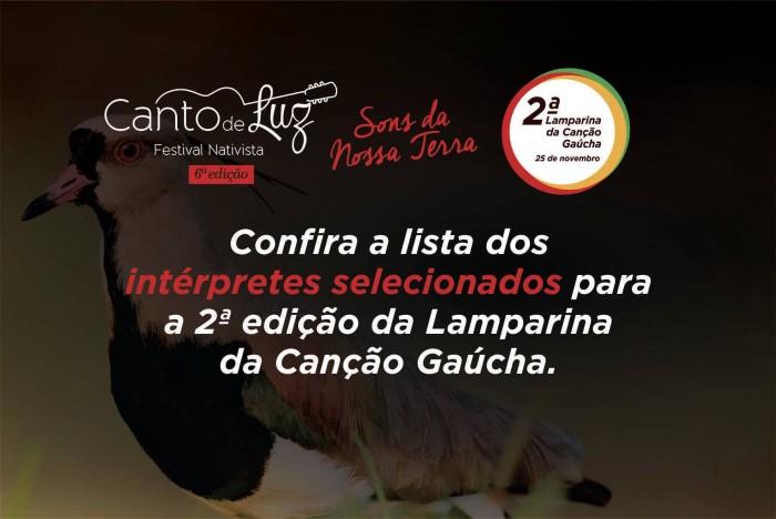 Conheça os classificados para 2ª Lamparina da Canção Gaúcha