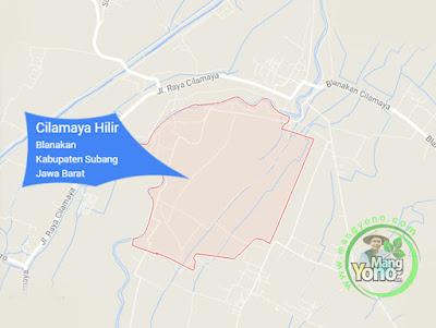 PETA : Desa Cilamaya Hilir, Kecamatan Blanakan