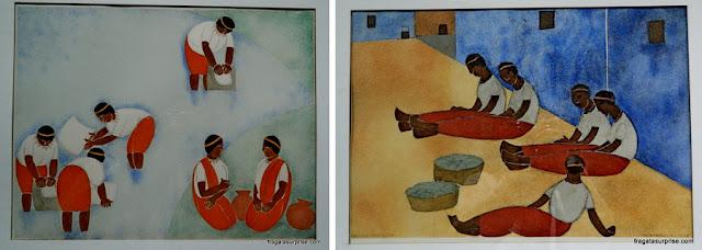 Obras do pintir Carlos Mérida no Museu Nacional de Belas Artes Carlos Mérida, Cidade da Guatemala