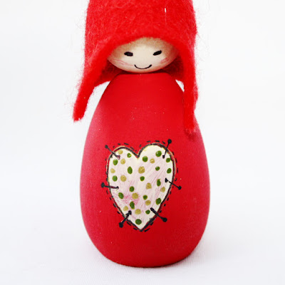 Patchwork Heart Cornish Pixie Elf