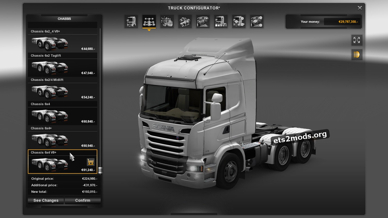 GTM Scania Reworks chassis