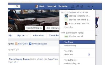 Bước tạo Fanpage facebook