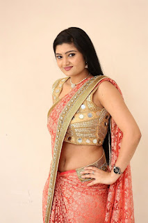 Akshitha Navel Show Pics at Prasnistha Movie First Look Launch Press Meet