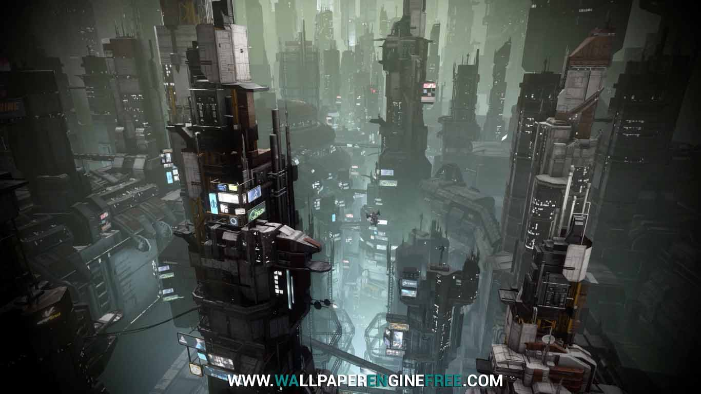 Download Starcitizen Area 18 Penthouse View (1080P