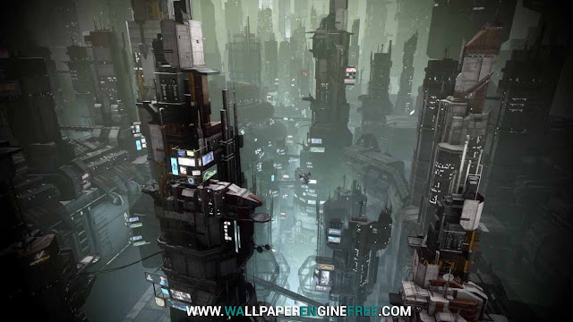 Download Star Citizen Area 18 Penthouse View Wallpaper Engine