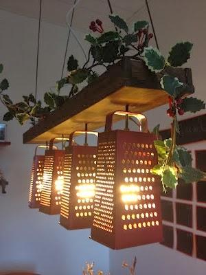 Φωτιστικό κουζίνας από τρίφτη