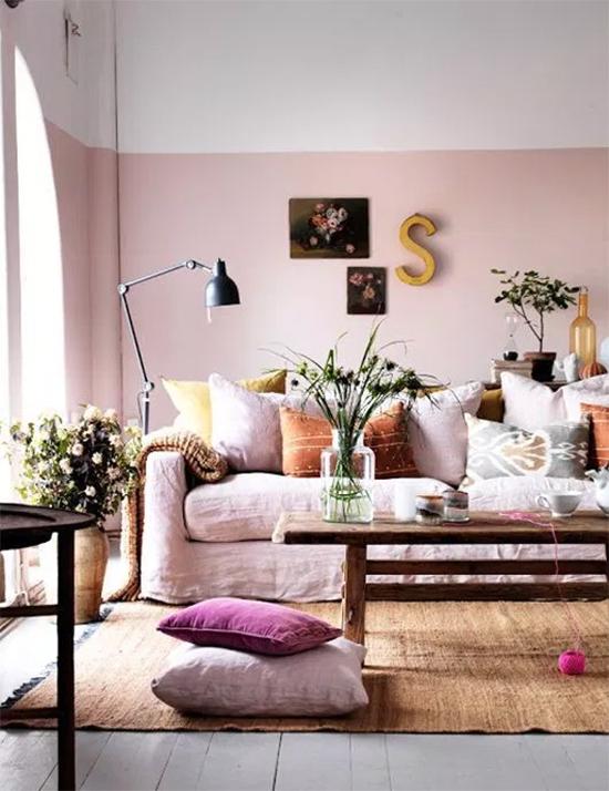 pantone 2016, rosa quartzo, azul serenidade, rose quartz, serenity, comoda colorida, parede colorida, quarto, bedroom, decoração,