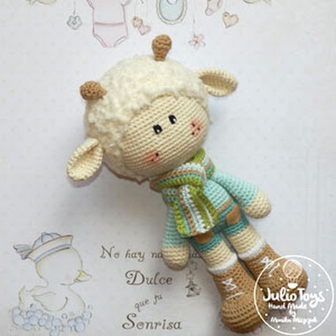 Spring Lamb Julio Toys Crochet Patterns Amigurumi