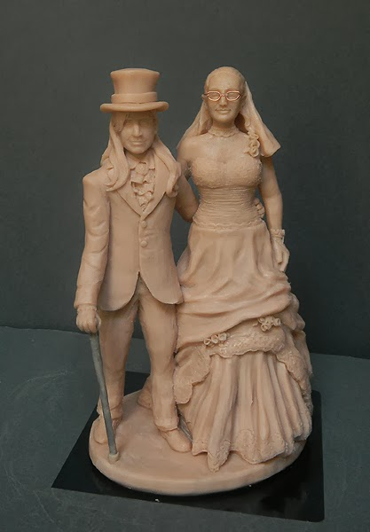 statuine matrimonio sposi per torta artigianali orme magiche
