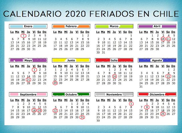 Calendario Chile 2020.Las Preguntas De Dios Calendario 2020 Feriados En Chile