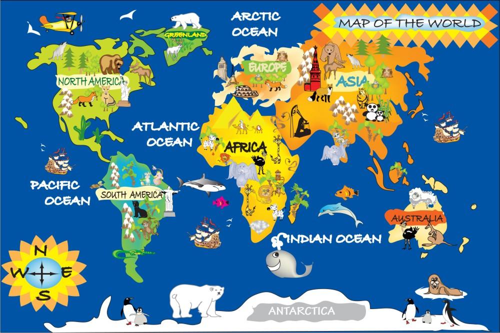 Jual Wall Sticker World Map - Stiker Dinding Murah
