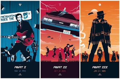 Back to the Future Print Triptych by Rico Jr. x PopCultArt