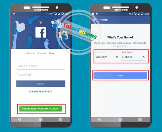 Cara Mudah Mendaftar Facebook Menggunakan Semua Jenis Smartphone Tutorialium