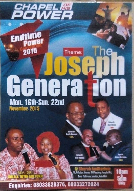2015 Endtime Power Convention