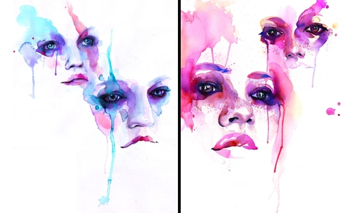 00-Marion-Bolognesi-Minimalist-Watercolor-Portraits-with-plenty-of-Expressions
